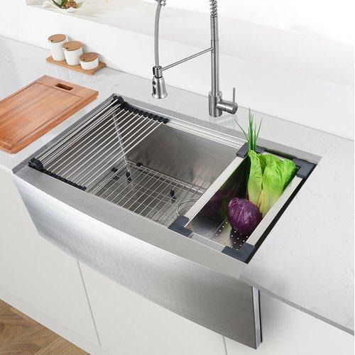 Ruvati Verona Workstation 30'' L x 23'' W Farmhouse  Kitchen Sink