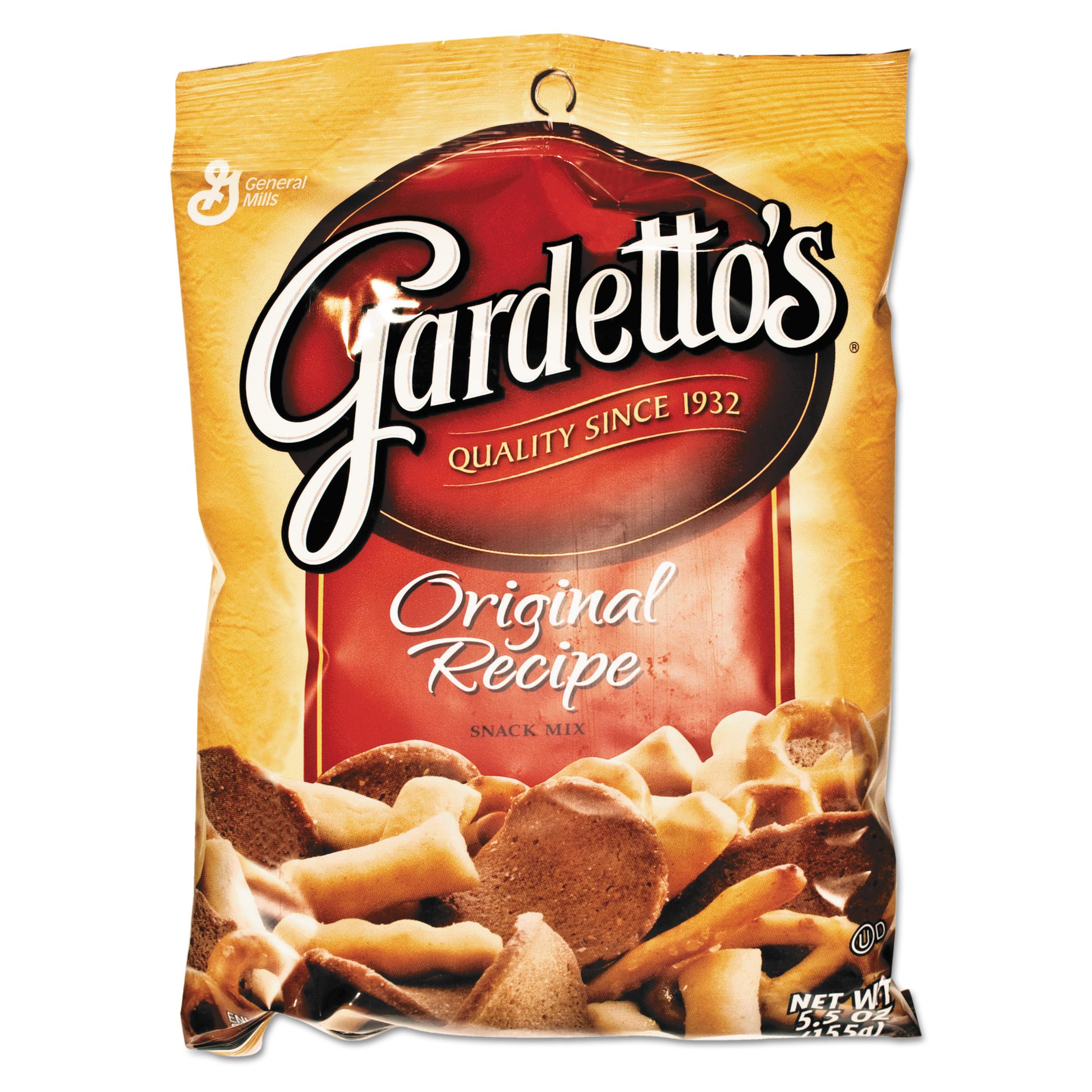 Image of General Mills Gardetto's Snack Mix, Original Flavor, 5.5oz Bag, 7/Box
