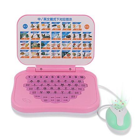 Learning Laptop, Justdolife Interactive Chinese English Preschool Early Education Toy Learning Machine with Mouse for Kids Children