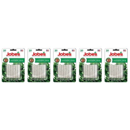 Lot of 5 Packages of Jobe's Fertilizer Spikes for House Plants (30 spikes/package), Slow-release formula for House Plants By