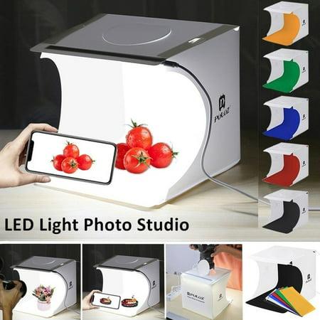 Folding Mini LED Panels Photo Box Video Lighting Studio Kit Box Diffused Lighting Studio Backdrop Cube Lightbox -  willstar