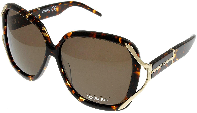 3505a8f97b29b Check Inventory. Iceberg Sunglasses Womens IC593 02 Oversized Havana Shiny  Rose Square Size  Lens  Bridge