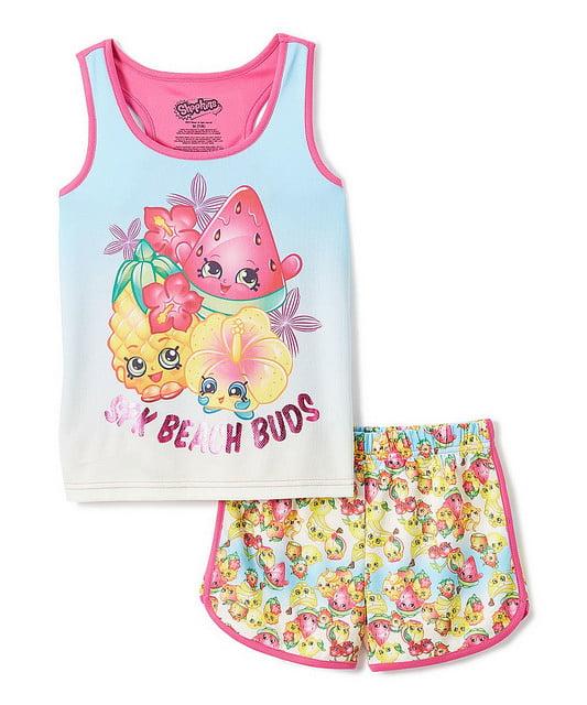 Shopkins Girla 'Summer' Mesh Pajama Short Set
