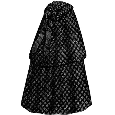 Sewing Pattern: 1868 Infant's Blue & White Cloak with Hood Pattern](Hooded Cloak Pattern)