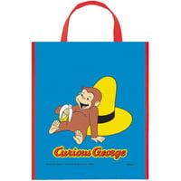 """Large Plastic Curious George Favor Bag, 13"""" x 11"""""""