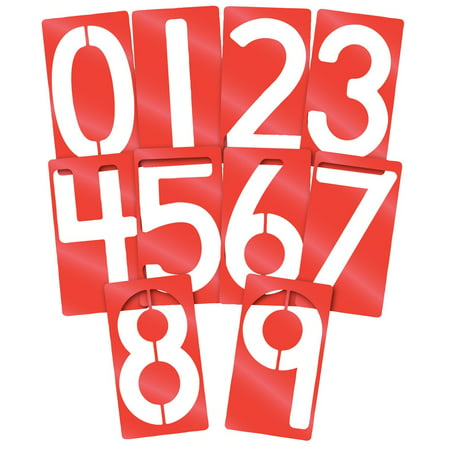Roylco Big Number Stencils, 5 x 9 Inches, Set of 10](Et Halloween Stencils)