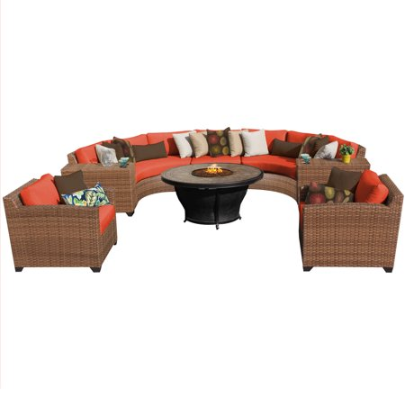 tuscan 8 piece outdoor wicker patio furniture set 08f