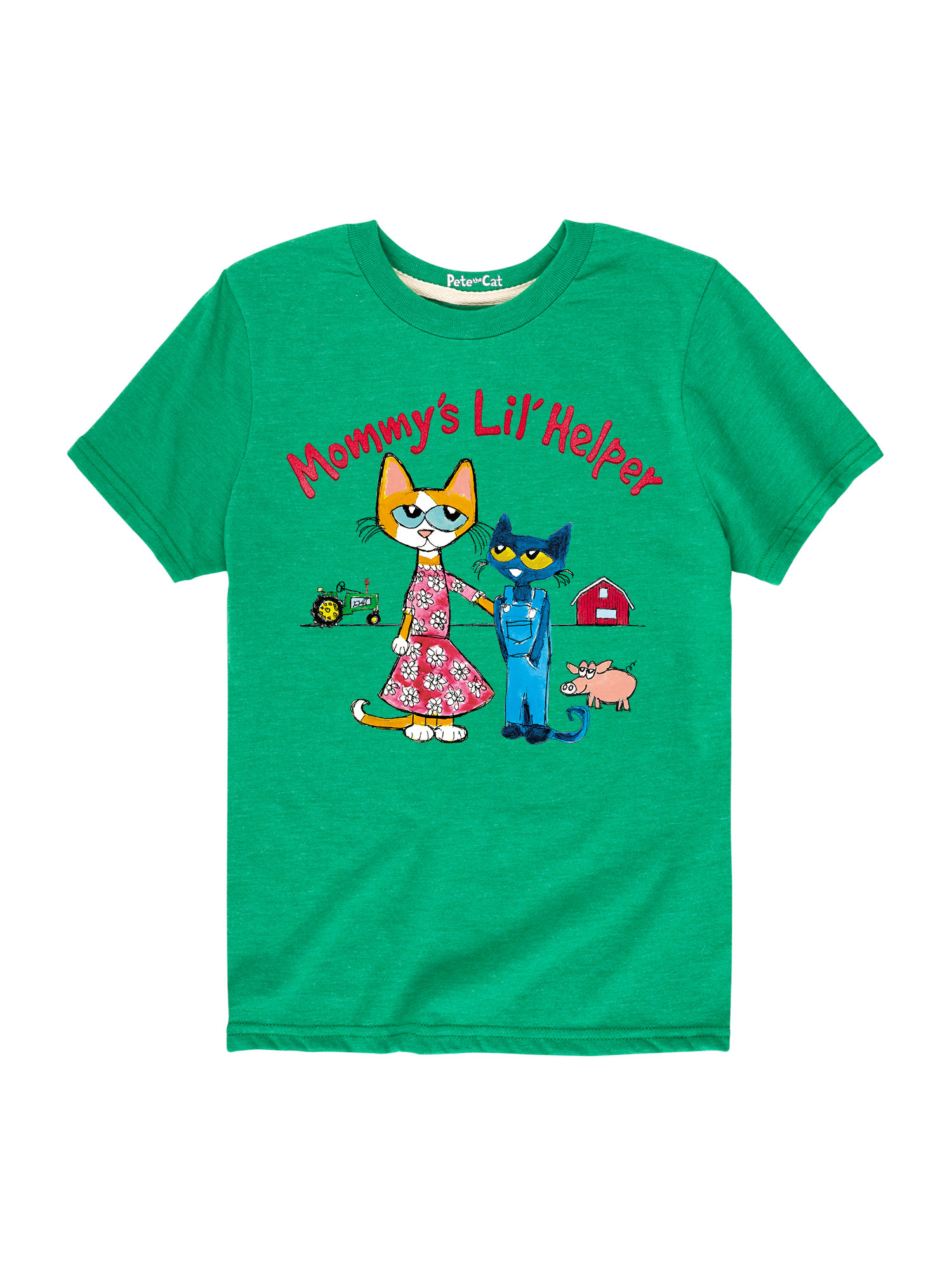 Pete The Cat Mommys Lil Helper - Toddler Short Sleeve Tee