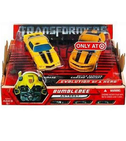 Transformers Deluxe Bumblebee Evolution of a Hero Action Figure 2-Pack by