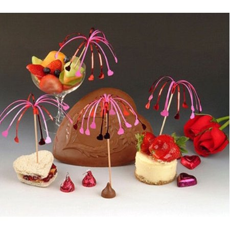 Fluttering Hearts Party Picks Hors D'oeuvre Toothpick Set (12 count) (Hors D'oeuvres For Halloween Party)