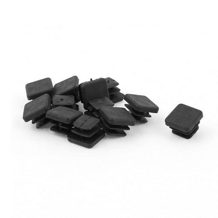 10mm x 10mm Plastic Square Tubing Pipe Inserts End Blanking Black 12 Pcs