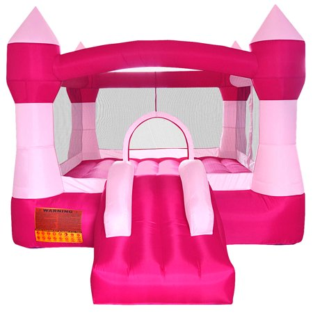 Cloud 9 Princess Bounce House - Inflatable Pink Castle without Blower - Inflatable Hammers Wholesale