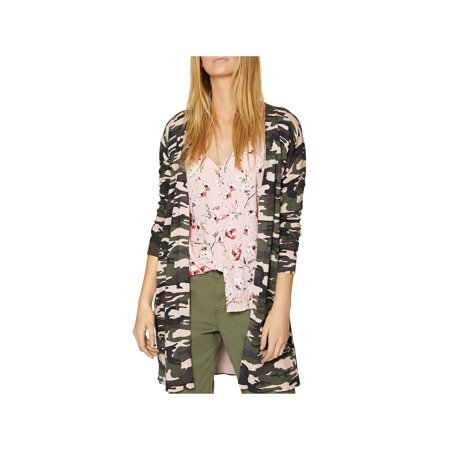Sanctuary Womens Everyday Camo Cardigan Sweater