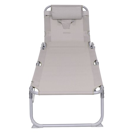 Gymax Adjustable Pool Chaise Lounge Chair Bench Recliner Beach Outdoor Patio Yard - image 9 of 10