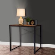 eHemco Manufactured Wood Writing Desk In Coffee