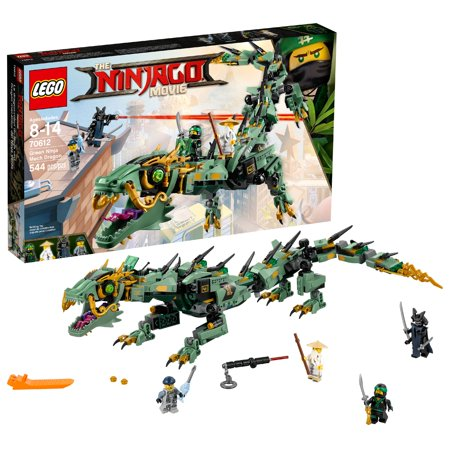 LEGO Ninjago Movie Green Ninja Mech Dragon 70612 Ninja Toy (544 Pcs - Blue Lego Ninjago