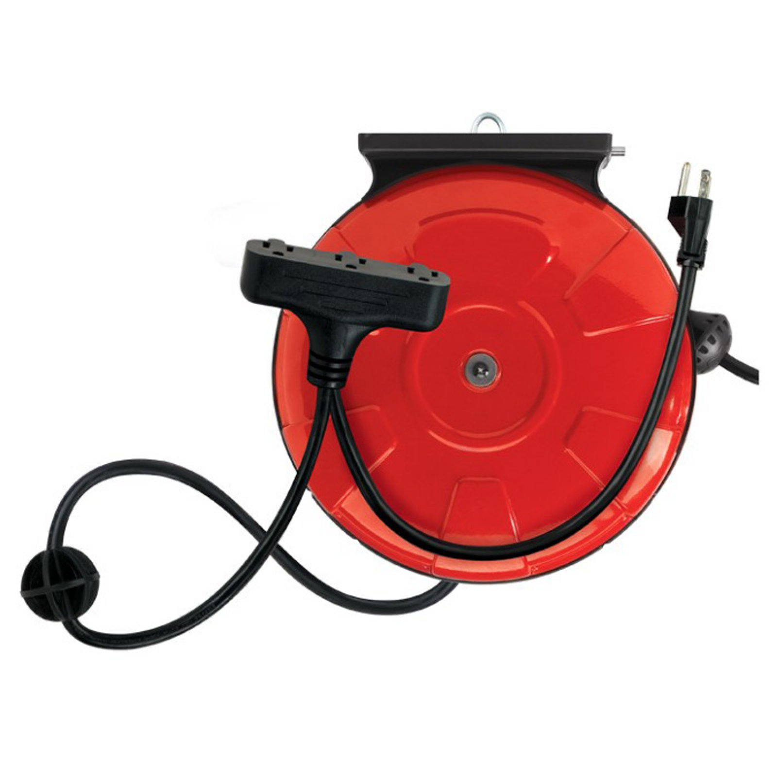 Designers Edge 48006 14/3-Gauge 30' Cord Reel Power Station with 3 Grounded Outlets