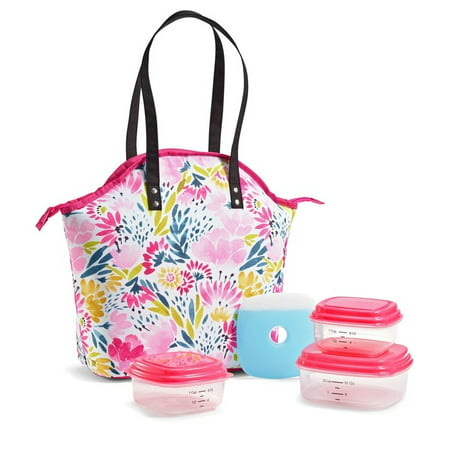 Fit & Fresh 987FFDIL2418 Davenport Insulated Lunch Bag Kit with BPA-Free Containers - Garden Sulphur ()