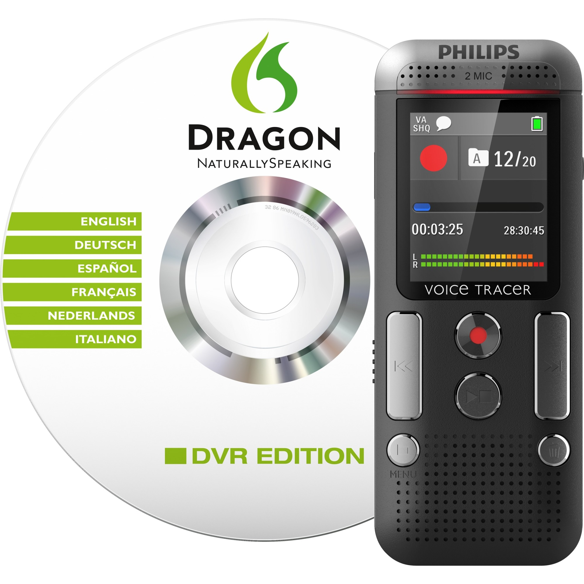 Philips Voice Tracer DVT2700 Digital Voice Recorder - Portable