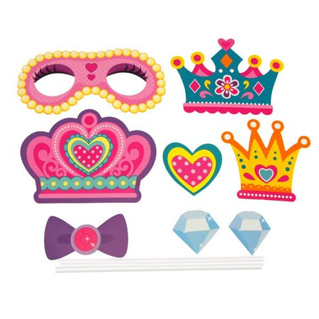 DIY Kid Photo Booth Props, 8-piece, Princess Party - Photo Booth For Parties Diy