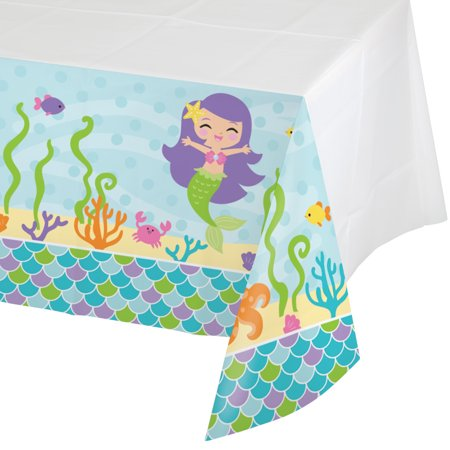 Pack of 6 Mermaid Friends Disposable Rectangle Plastic Party Table Covers 102
