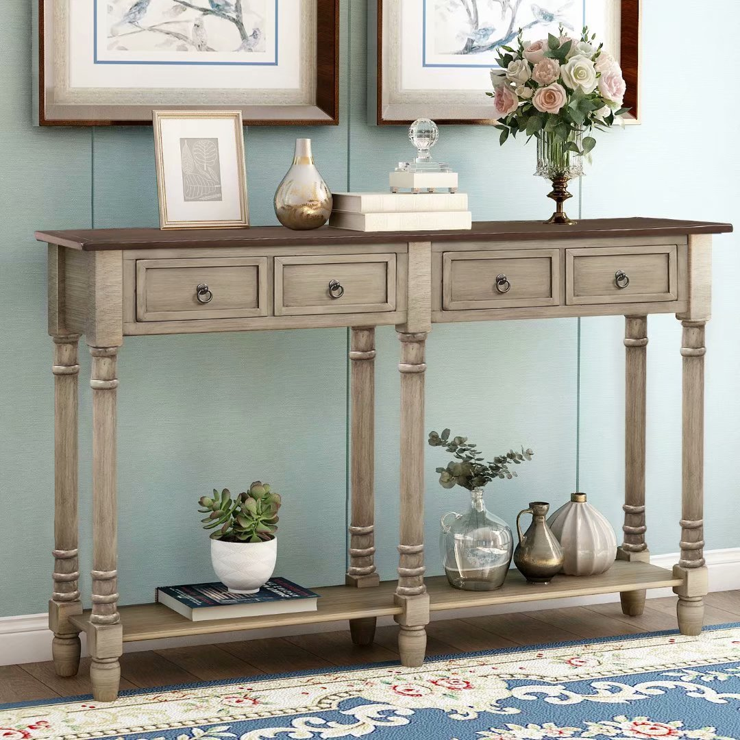TREXM Console Table Sofa Table with Storage Console Tables ...