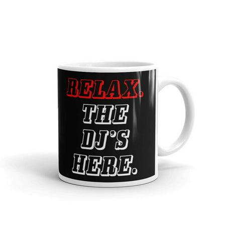 Relax The Dj's Here Disc Jockey Funny Coffee Tea Ceramic Mug Office Work Cup Gift 11