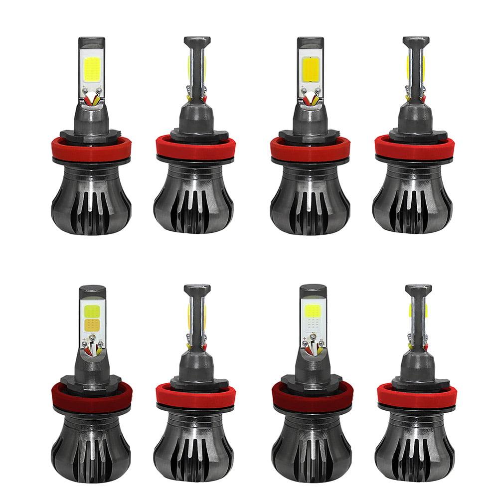 2PCS Single And Double Color Detonating Car Fog Lamp H8/H9/H11