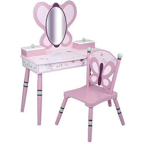 Levels of Discovery Sugar Plum Vanity and Chair Set