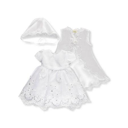 Ceci Kid Baby Girls' 3-Piece Christening Set - Baby Christening