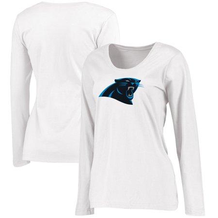 36b1a0e0 Carolina Panthers NFL Pro Line Women's Plus Size Primary Logo Long Sleeve  T-Shirt - White