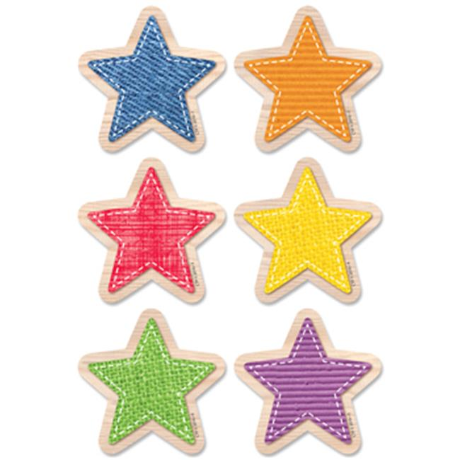 3 in. Upcycle Style Stars Designer Cut-Outs