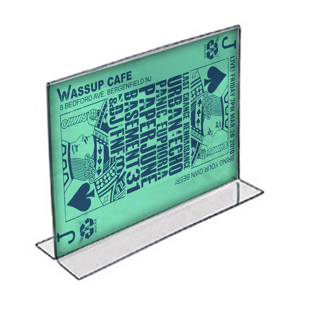 "Azar 152707 14"" W x 8.5"" H Double-Foot Acrylic Sign Holder, 10Pack"