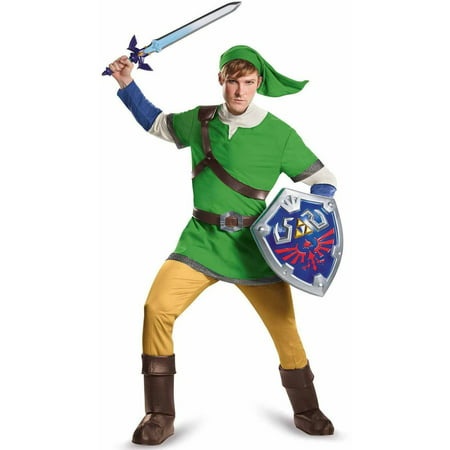 The Legend of Zelda Link Deluxe Men's Adult Halloween Costume](Link Halloween Costume Zelda)
