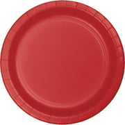 9 inch Round Paper Dinner Plates Classic Red,Pack of 24 EA