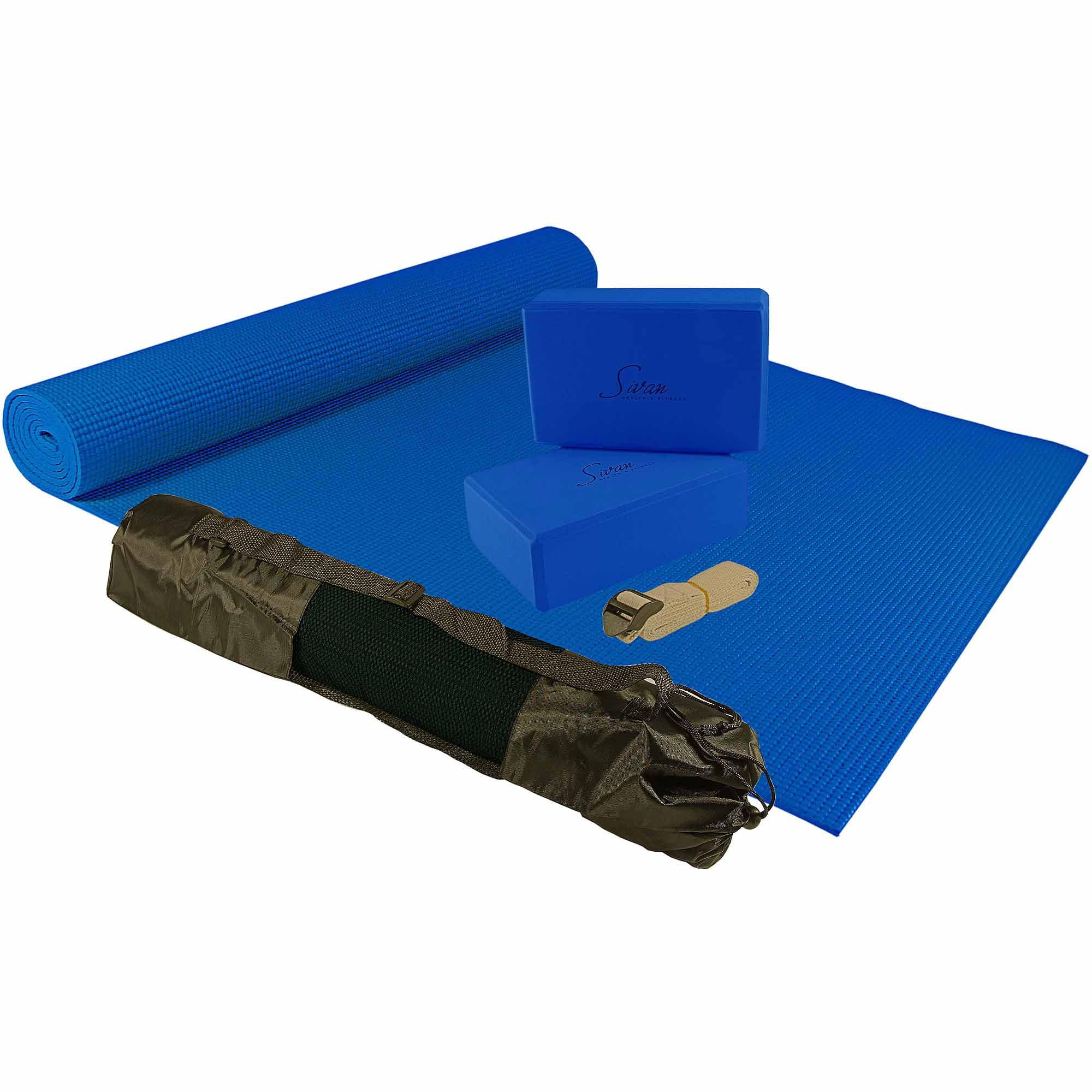 Sivan Health & Fitness Prepacked 5-Piece Yoga Kit, Blue