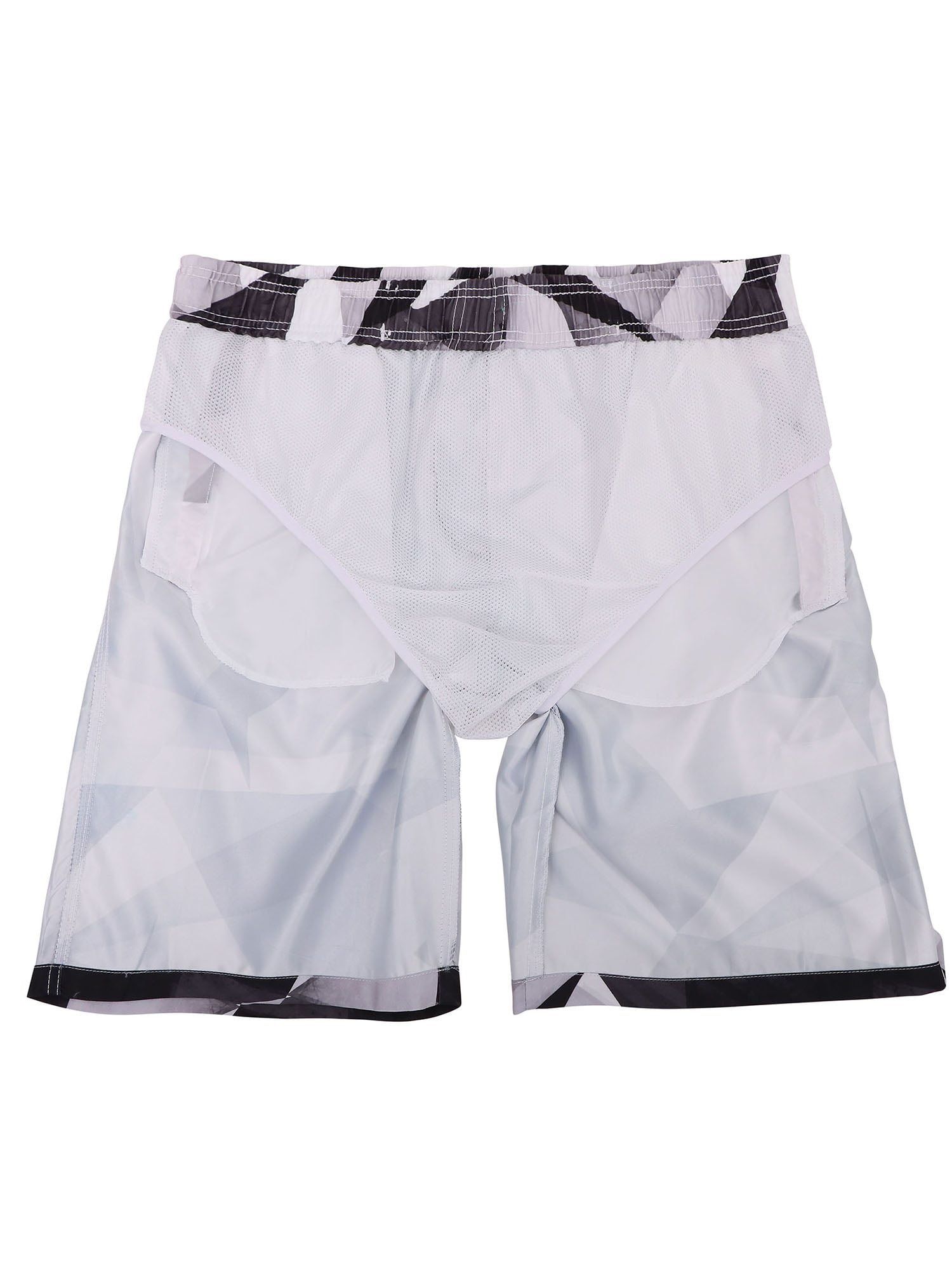 Hateone Mens Beach Shorts Quick Dry Summer Holiday Mesh Lining Swimwear Board Shorts with Pockets