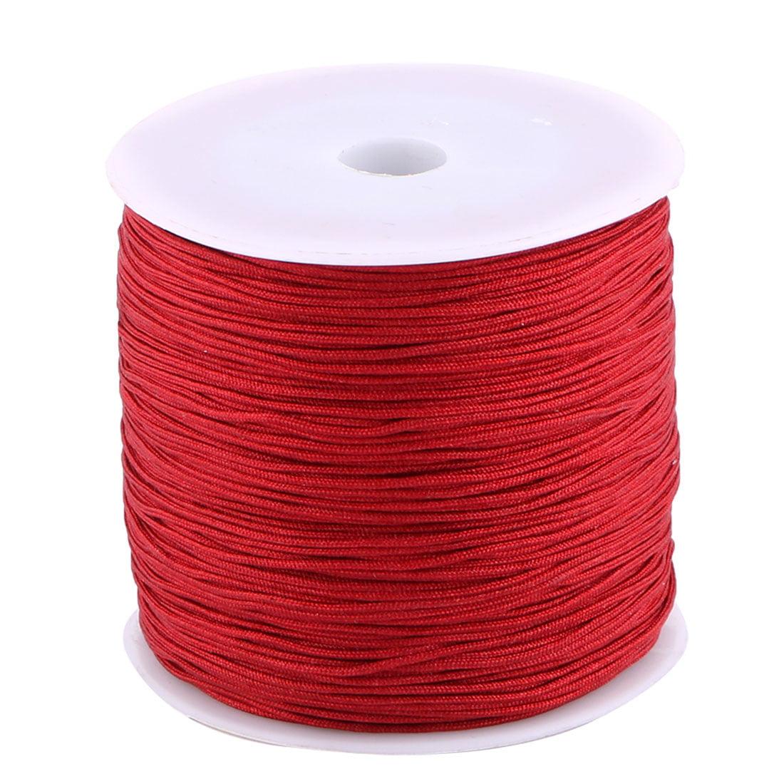 Unique Bargains Nylon DIY Craft Braided Chinese Knot Bracelet Cord String Burgundy 110 Yards
