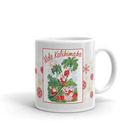 Mele Kalikimaka Hawaiian Santa Ugly Christmas Palm Tree Coffee Tea Ceramic Mug Office Work Cup Gift 11