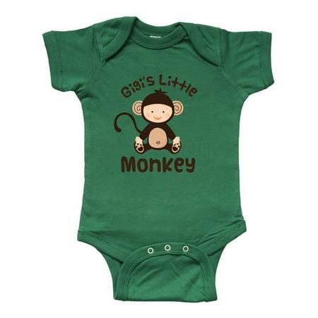 Gigi Little Monkey Grandchild Infant Creeper - Monkey Onesie