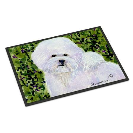 Bichon Frise Indoor Outdoor Mat 18x27 Doormat ()