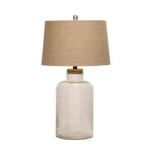 Benzara Exquisite And Creatively Styled Glass Fillable Table Lamp