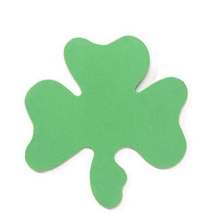 Darice 12 Piece St. Patrick's Day 5.75' Foam Green Shamrock (1 Pack)