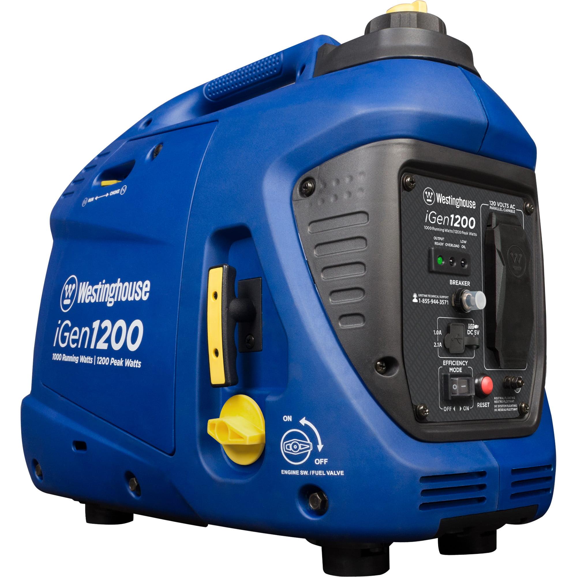westinghouse igen1200 gas powered portable inverter generator rh walmart com