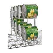 """Focus Foodservice FFCR10CH Wire Can Rack For 24"""" Shelves"""