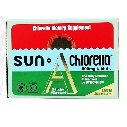 Sun Chlorella Chlorella Tablets, 500 Mg, 600 Ct