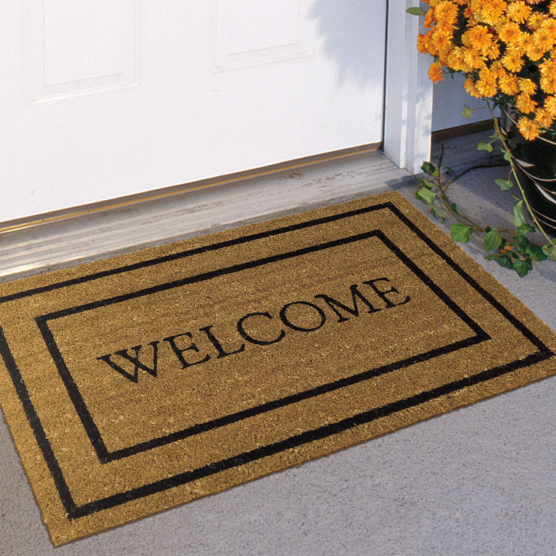 Mainstays Classic Welcome Coir Doormat 18 X 30 Walmart Com Walmart Com