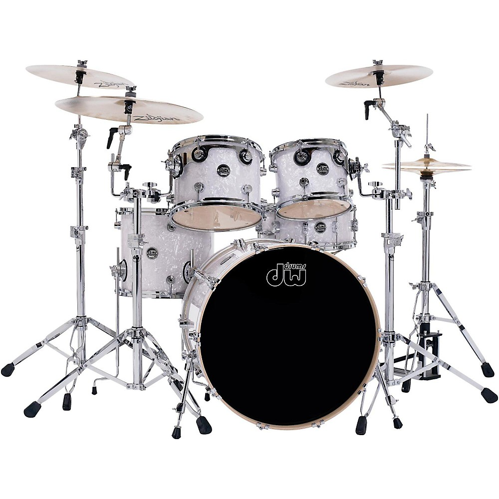 DW Performance Series 5-Piece Shell Pack with Snare Drum White Marine