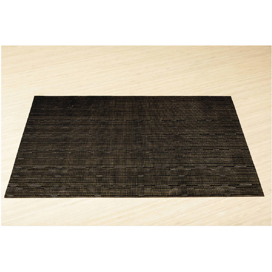 Office Settings Black Placemats, 12 count