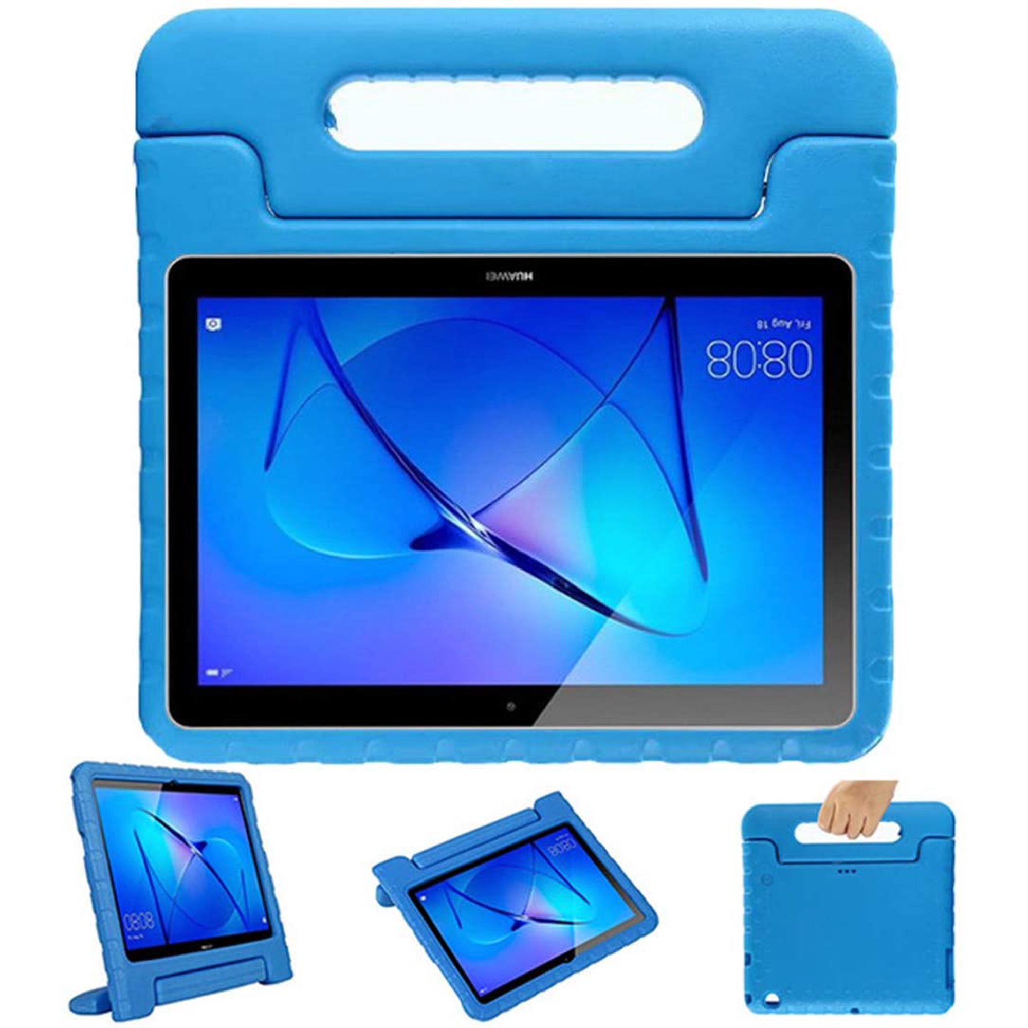 Leeboss Kids Case for Huawei MediaPad T3 10 (9.6 inch), Shockproof Light Weight Protective Handle Stand Kids Cover